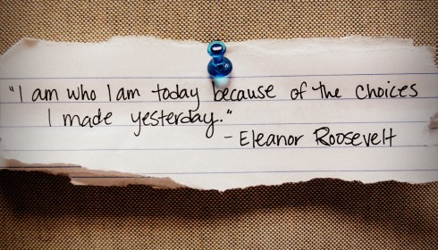 I am who I am today - Eleanor Roosevelt