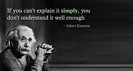 Einstein Quote - Explain it Simply