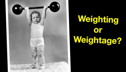 Weighting vs Weightage